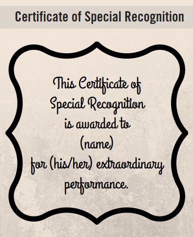 Certificate Of Appreciation Wording Examples Certificate Wording