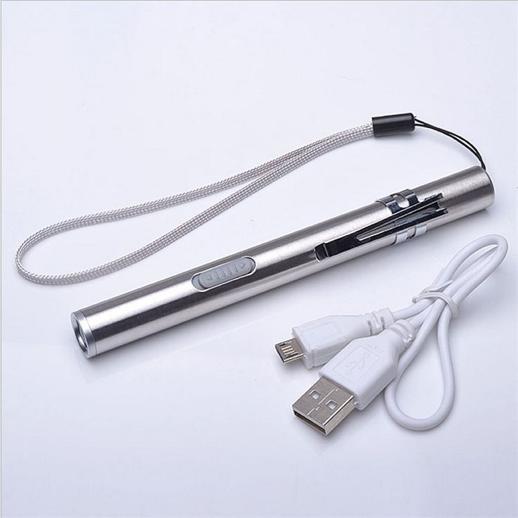 USB Rechargeable LED Flashlight High-quality Powerful Mini Cree LED Torch XML Waterproof Design Pen Hanging With Metal Clip
