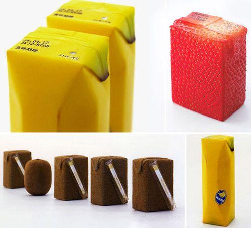 creative packaging Japanese Juice Box fruits #creative