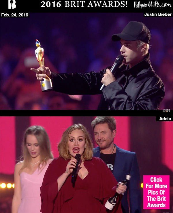 Brit Awards Winners List 2016 — Adele, Justin Bieber, Coldplay & More