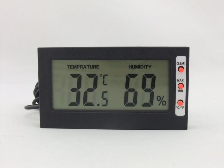 The Combined Thermometer And Hygrometer Measures Both Temperature And  Humidity And Is An Ideal Space Saving