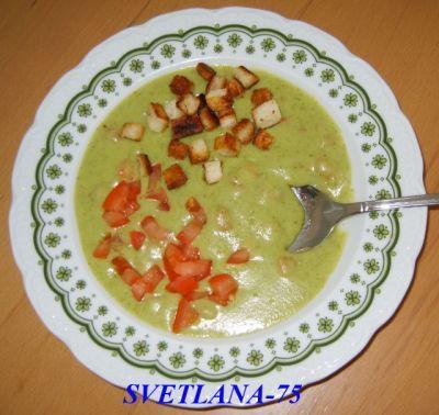 Брокколи суп с сухариками : Первые блюда