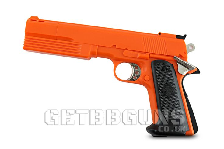 HFC HG125 GAS AIRSOFT PISTOL  This semi automatic HG125 is a full size gas airsoft pistol with extended barrel constructed from ABS and metal. #getbbguns #airsoft #bbguns #gasgun #semiauto #airsoftgun #hg125