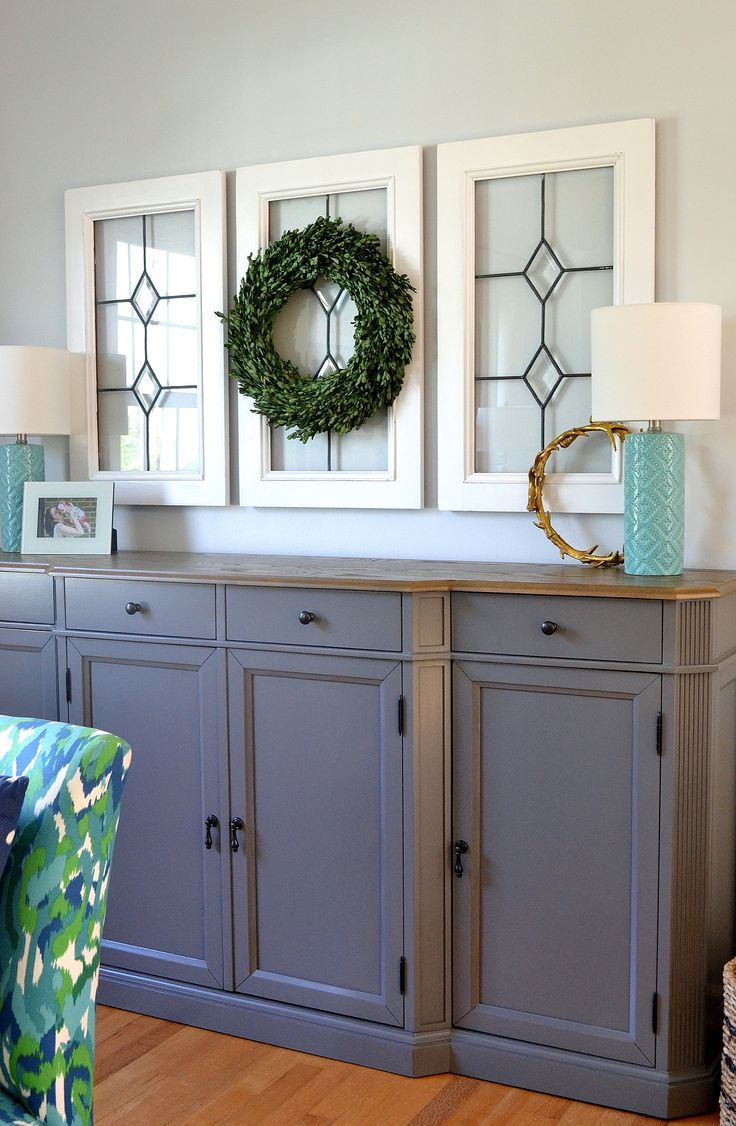 Pottery barn dining room buffet - Vintage Window Panes Are A Great Way To Get That Rustic Farmhouse Touch Of