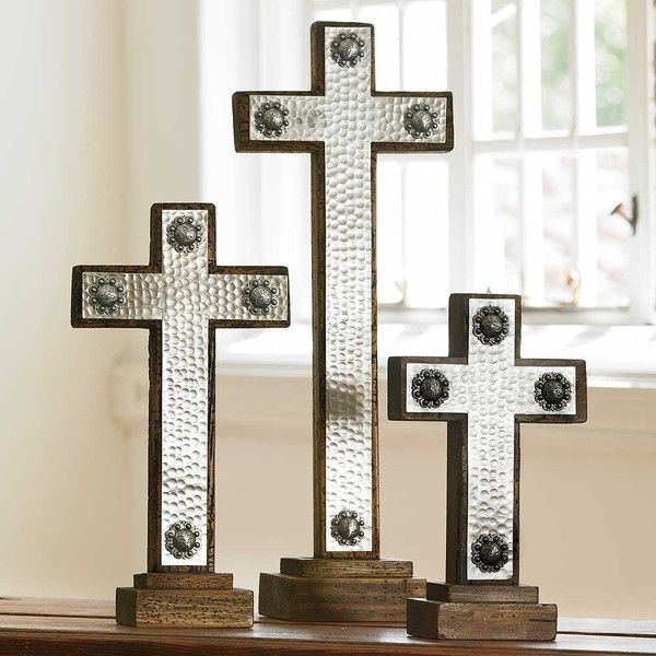 Add A Little King Ranch To Your Home Decor With This Hammered Iron Cross.  Each