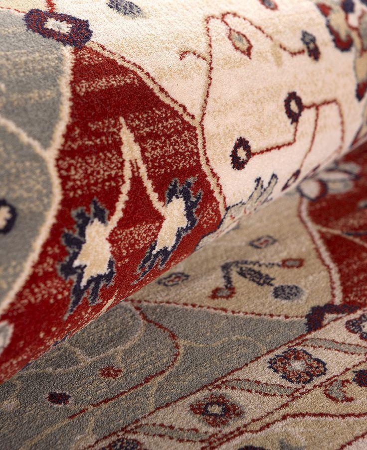 Detalle Alfombra Byzan Clásica en color Beig. 100% Pura Lana Virgen. http://alfombrashispania.com/