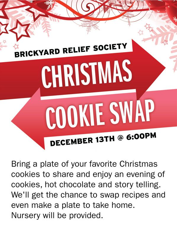 Brickyard Ward Relief Society: Christmas Social Cookie Swap.  Made gift boxes to take cookies to VT sisters and neighbors