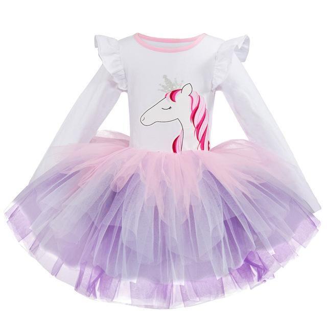 Christmas Toddler Kids Baby Girls Snowflake Print Princess Dress Outfits Clothes