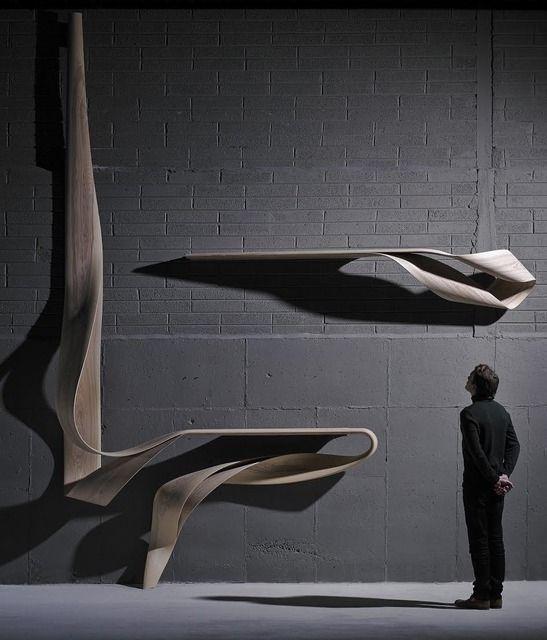 Enignum Shelf XIII, 2013, by Joseph Walsh   #wood #sculpture