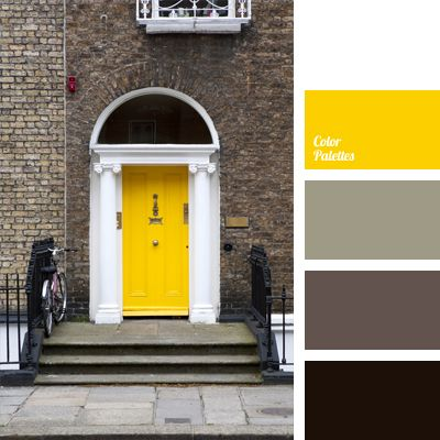 If you are in a brown study and you don't know how to highlight your home's facade, than this colour combination will be very handy. With bright yellow you.