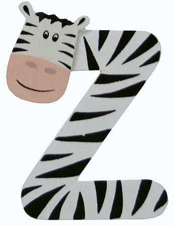 "2-3/4"" Painted Alphabet Letter ""Z"" Animal - Scrapbooking - Craft Supplies"