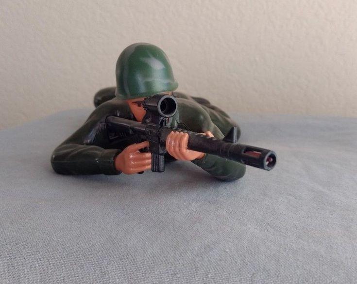 Commando Crawling Force Soldier 1987 Regency Inc. Battery Operated Military Gun #RegencyInc