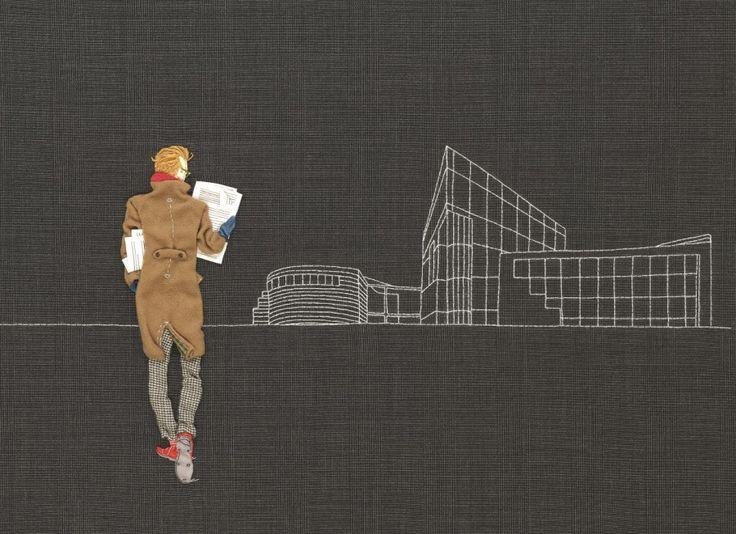 Paula Sanz Caballero   Hand stitched illustration
