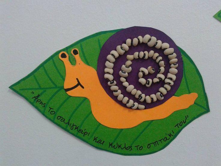 Κολλάζ σαλιγκάρι / Snail collage