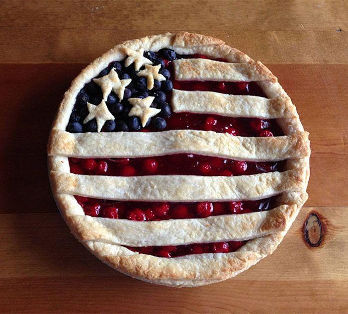 Торт в виде американского флага