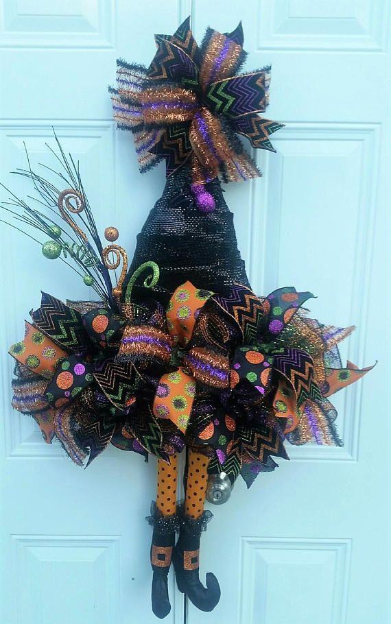 Halloween Door Decor Halloween Witch Decor Halloween Decor