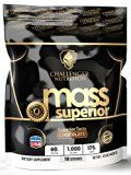 CHALLENGER NUTRITION  MASS SUPERIOR (BEST Mass Gainer). CHOCOLATE  10 Pound /LBS. Best Tasting WITH 1000 calories per serving Reviews