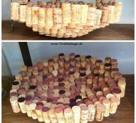 sådan kan du genbruge vinpropper af kort til et fad