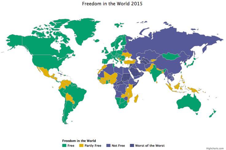 Freedom in the World 2015: meno libertà in tutto il mondo. In Siria la vita peggiore