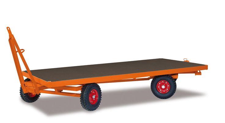 GTARDO.DE:  Industrieanhänger mit 2-Achs-Drehschemellenkung, Tragkraft 5000 kg, Ladefläche 2000 x 1000 mm, Rad 400 x 130 mm 2 655,00 €