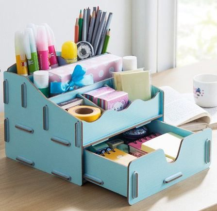 Desktop organizer from quotcreating the perfect home office for Diy office supplies