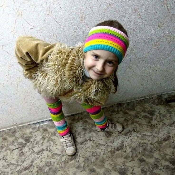 Вязаный крючком #набор - #гетры, #повязка на голову и #кофта. Кофту покажу позже)))  #Daughter #leggings #crochet #knitting #bandage #hat  Crochet set - leggings, headband and jacket. The jacket will show later))) 😍👧👧👧👧  #figlia #calzini #uncinetto #maglia #patch #cappello #tochter #socken #häkeln #stricken #flicken #hut 👰👼