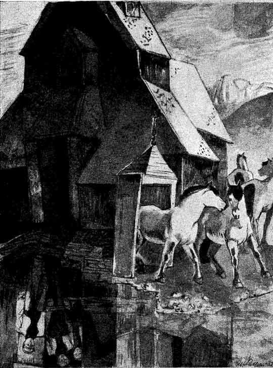"""""""De syv folene"""" illustrert av Alf Rolfsen"""