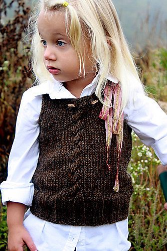 PDF Knitting Pattern Cabled Vest Size 3T4T by AvrellynRose on Etsy. $4.00 USD, via Etsy. (can someone make it for me??)