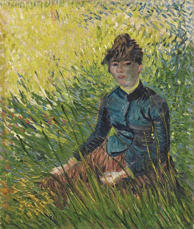 Vincent van Gogh 1853 - 1890 FEMME DANS UN CHAMP DE BLÉ Oil on canvas 16 3/8 by 13 3/4 in. Painted in Paris in April – June 1887.