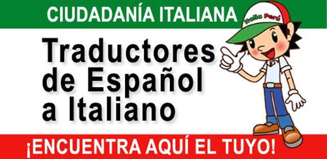 Encuentra aquí una lista de traductores de español a italiano de Argentina, Bolivia, Brasil, Chile, Colombia, Ecuador, México, Panamá, Perú, Uruguay...
