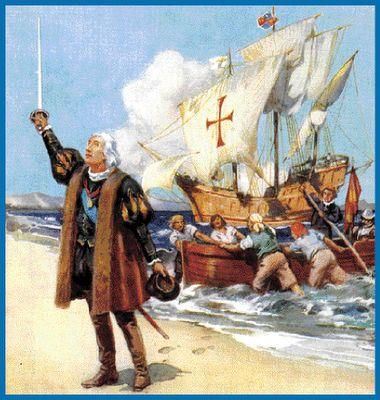 Cristóbal y el resto de los marineros llegan a América en 1492. - 7 |  Christopher columbus, Columbus, Poetic forms