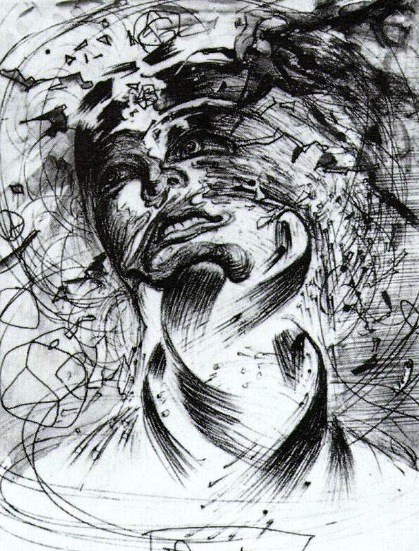 Salvador Dali, Exploding Head, 1952.  My absolute favorite Dali.