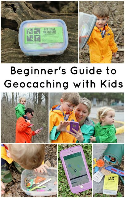 Beginners Guide to Geocaching with Kids - a step-by-step guide  explaining this easy, free outdoor treasure hunting game using the GPS on your phone and a free app! Perfect for kids of all ages.