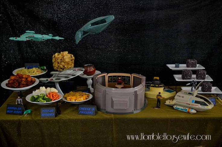 Food and decoration ideas for a Star Trek: The Next Generation party
