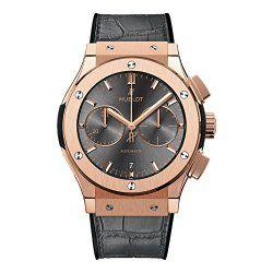Hublot Mens Classic Fusion Racing Grey Rose Gold Chronograph 45mm Watch