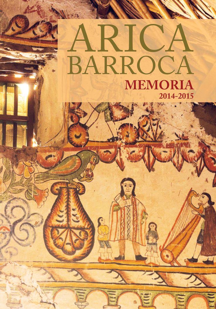 Portada Memoria Arica Barroca Año: 2016