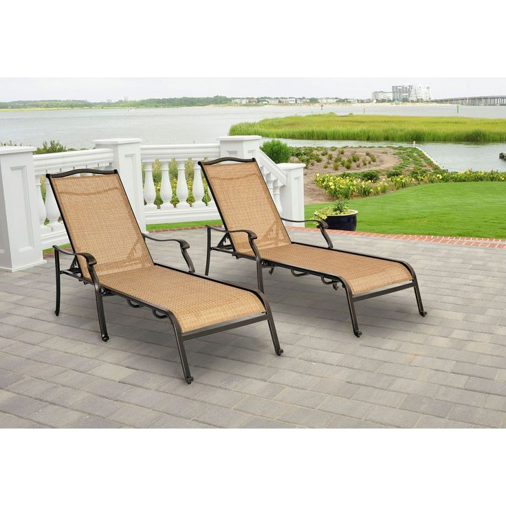 Hanover Monaco Outdoor Chaise Lounge Chairs