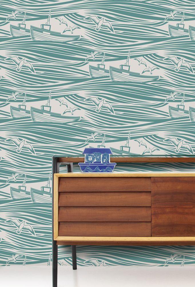 Mini Moderns | Whitby Wallpaper - Lido
