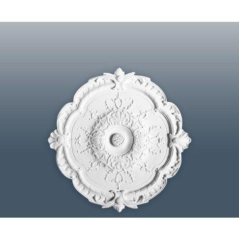 Rosetón Florón Elemento decorativo de estuco Orac Decor R31 LUXXUS para techo o pared blanco 38,5 cm diámetro - LUXXUS | R31 - Revestimiento de paredes y suelos