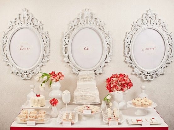 White and Bright Dessert Table