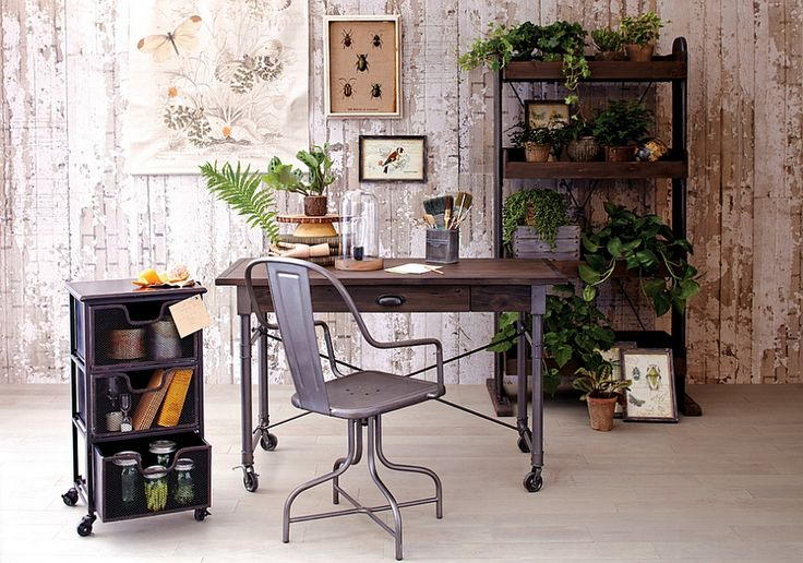 Elegant industrial chic home office 27 Ingenious Industrial Home Offices with a Modern Flair