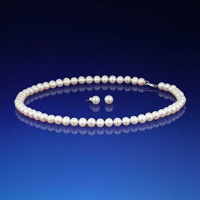 Sada perlového náhrdelníku a náušnic AA-6