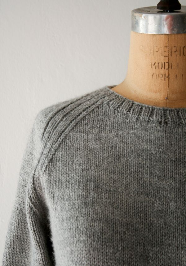 Lauras Loop: The Sweatshirt Sweater - Knitting Crochet Sewing Crafts Patterns and Ideas! - the purl bee