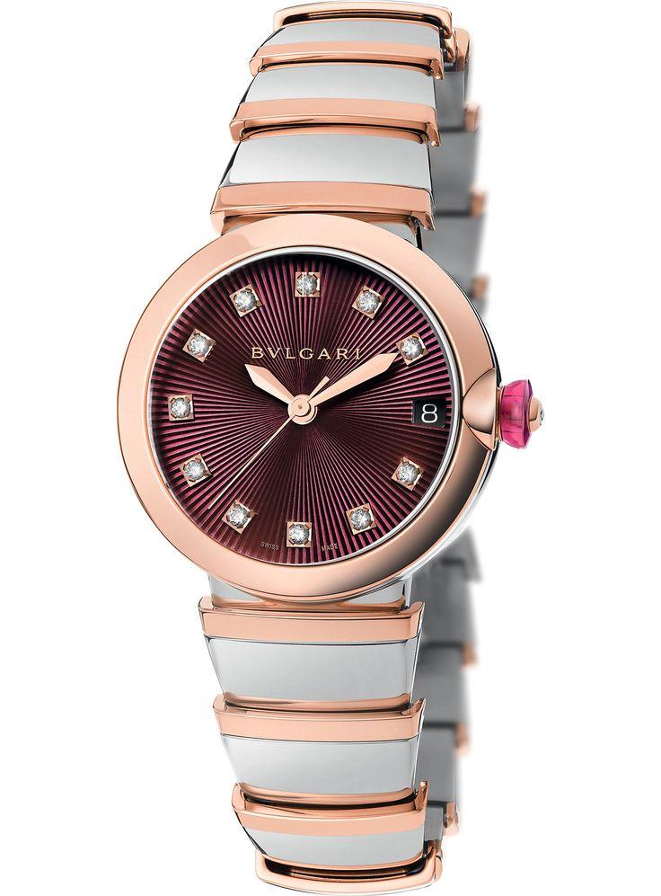 BVLGARI - Lvcea 18ct pink-gold and diamond watch | Selfridges.com