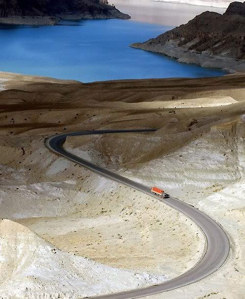Gorgeous and surreal photo of a road in Afganistan