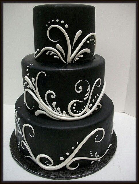 382 Best Black White Cakes Delectable Images On Pinterest Marriage Biscuits And Cake Wedding
