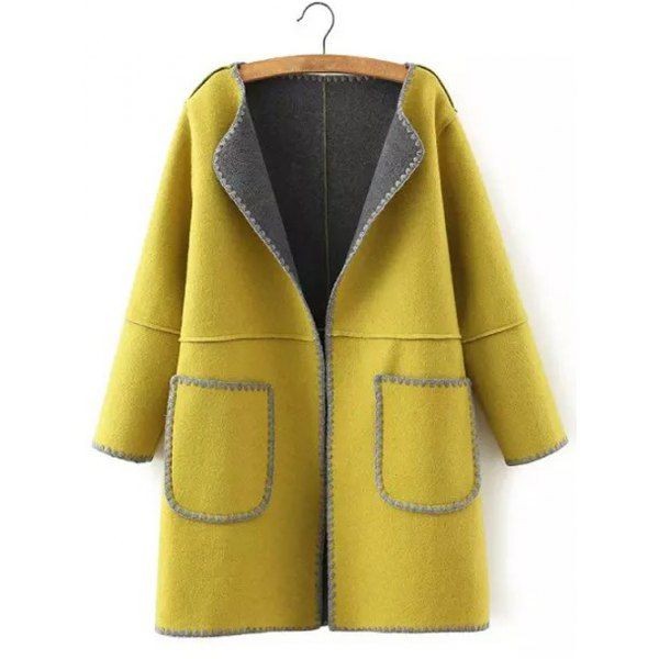 Plus Size Thick Pocket Patched Woolen Sweatshirt -