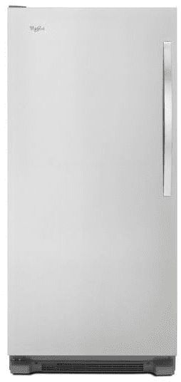Whirlpool WSZ57L18DM 18.0 cu. ft. All Freezer with 4 Adjustable Glass Shelves, Electronic Temperature Control, Fast Freeze, 4 Door Bins, Interior LED Lighting, Temperature Alarm and Frost-Free Defrost: Stainless Steel