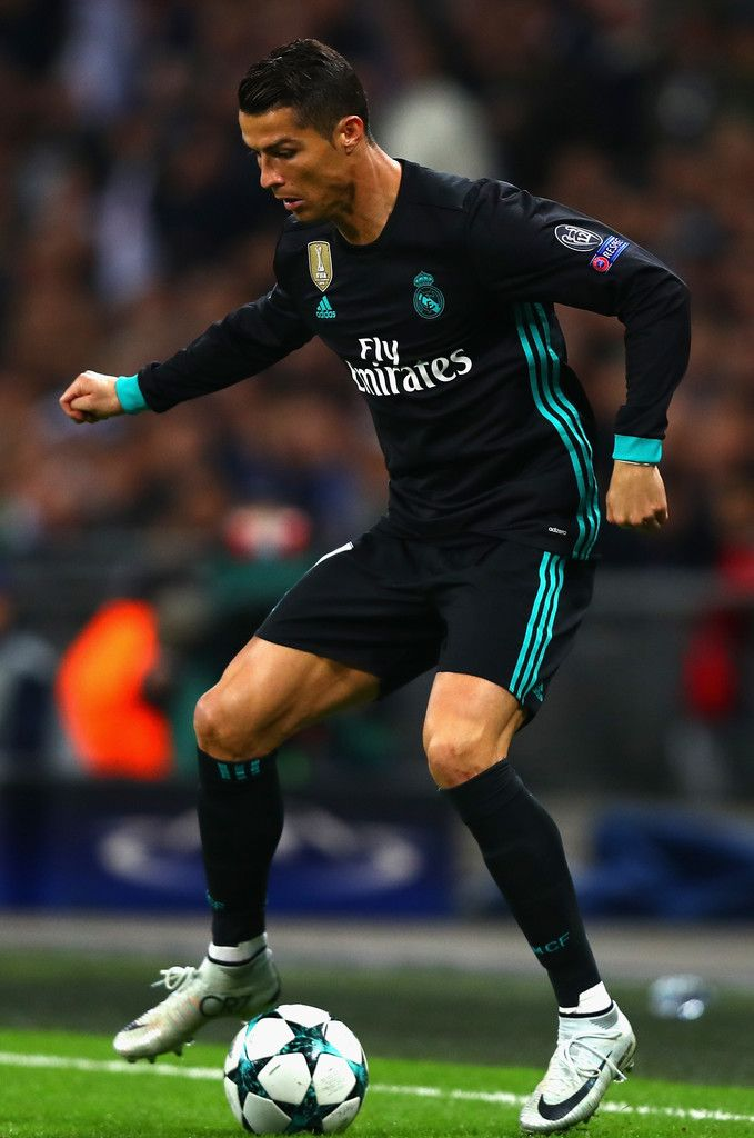 Cristiano Ronaldo Photos - Cristiano Ronaldo of Real Madirid in action during the UEFA Champions League group H match between Tottenham Hotspur and Real Madrid at Wembley Stadium on November 1, 2017 in London, United Kingdom. - Tottenham Hotspur v Real Madrid - UEFA Champions League