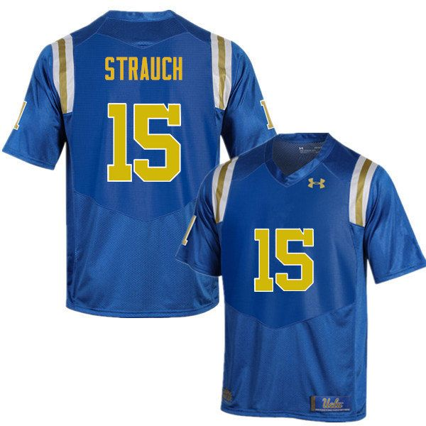 new styles 14e42 4c4c0 Men #15 Andrew Strauch UCLA Bruins Under Armour College ...